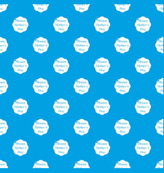 happy mother pattern seamless blue vector image