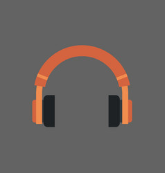 headphones icon headset audio listening equipment vector image