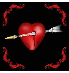 heart pierced vector image