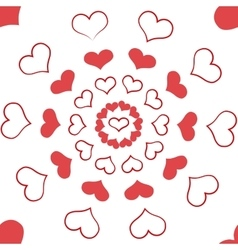 Heart seamless pattern3 vector image