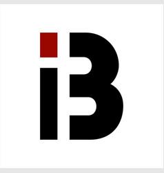 ib bi i3 b initials geometric letter company logo vector image