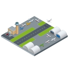 Isometric airport building airport building vector