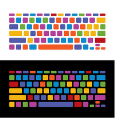 Keyboard childish colorful set vector