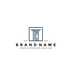 Letter bn law logo design vector