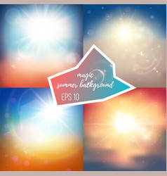 Light summer backgrounds vector