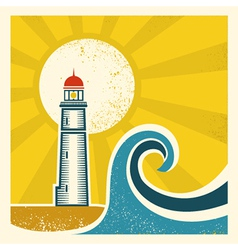 Lighthouse poster vector