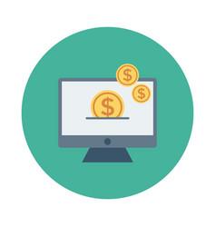 Money screen vector