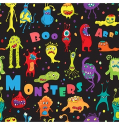 Monster seamless pattern vector