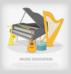 Musical ensemble concept cartoon style vector