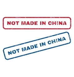 Not Made In China Rubber Stamps vector
