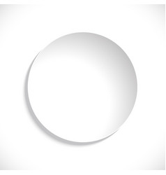 paper circle sticker isolated on white vector image
