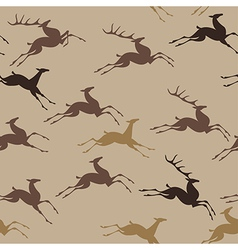 pattern deer run vector image