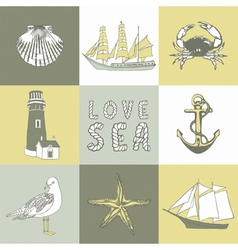 Sea Coast Background vector image