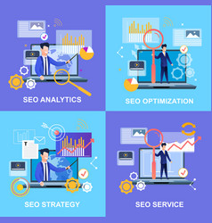 Seo analytics optimization seo strategy service vector