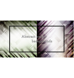 set of abstract light background vector image