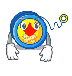 Silent yoyo mascot cartoon style vector