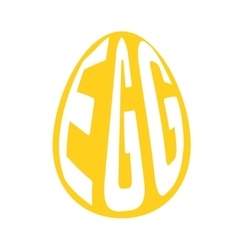 Silhouette of egg with text inside on background vector image