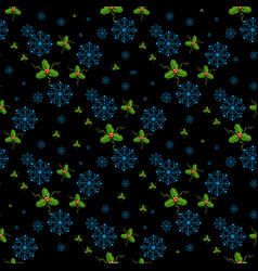 snowflakes decorated with circles and dots vector image