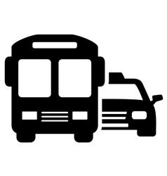 Social transport symbol vector