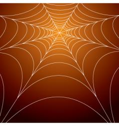 Spooky spiders web vector