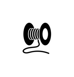 Spool threads sewing flat icon vector