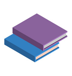 stack of school books icon isometric style vector image