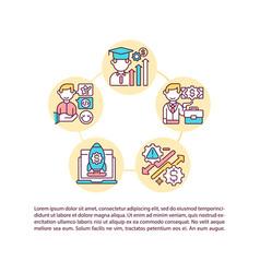 Successful game design alumni concept icon vector