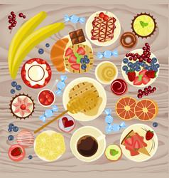 Sweet menu for coffee vector