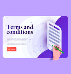 terms and conditions terms use legal agreement vector image