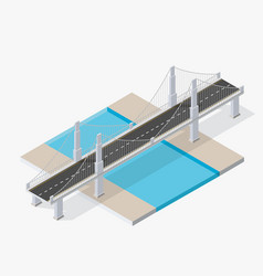 The bridge skyway vector