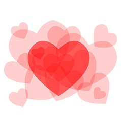 Transparent heart symbols card vector image