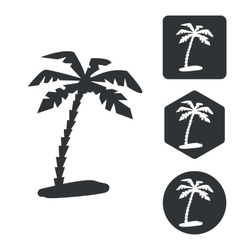 Travel icon set monochrome vector image