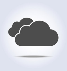 two clouds flat simple gray icon symbol vector image