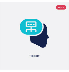 Two color theory icon from communications concept vector