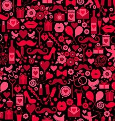 Valentines day seamless pattern on vector image