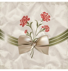 Vintage carnations background vector