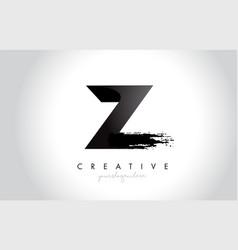 z letter design with brush stroke and modern 3d vector image