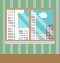 Business views window office vector image