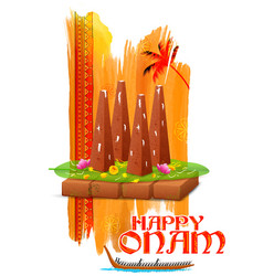 Decorated onathappan for Onam celebration vector image