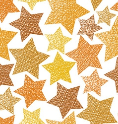 Golden stars seamless pattern repeating background vector image