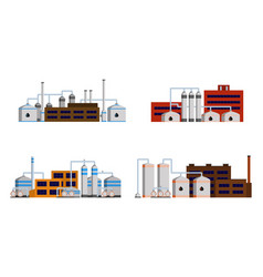 oil refinery industry building vector image