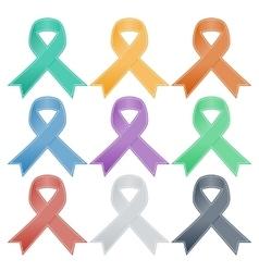 Breast Cancer Ribbon Set vector image vector image