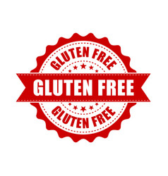 gluten free grunge rubber stamp on white vector image