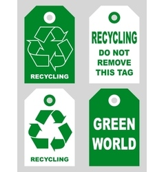 Recycling tags set front and back sidesOrganic eco vector image