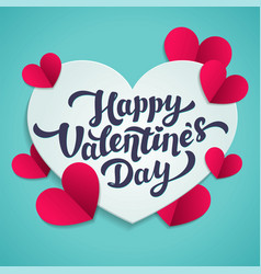 valentine s day greeting card 14th of february vector image vector image