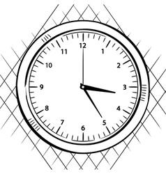 wall clock sketch vector image