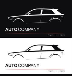 design car silhouette vector image