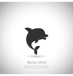 Dolphin icon or logo Black vector image