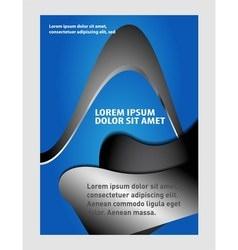 Flyer design background vector image