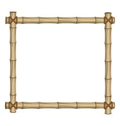 frame bamboo vector image